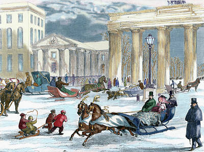 1863 Photograph - Berlin, Germany Street Scene by Prisma Archivo