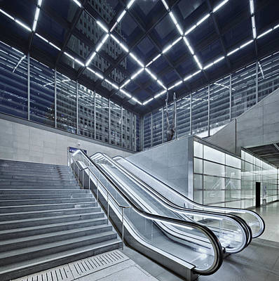 Berlin Potsdamer Platz With Escalator Art Print by Ricowde