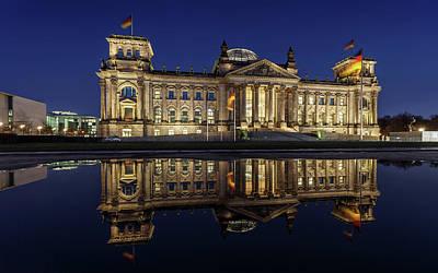 Symmetry Photograph - Berlin Reichstag -- Parliament Building by Fhm