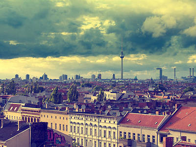 Berlin Photograph - Berlin Skyline And Roofscape by Alexander Voss