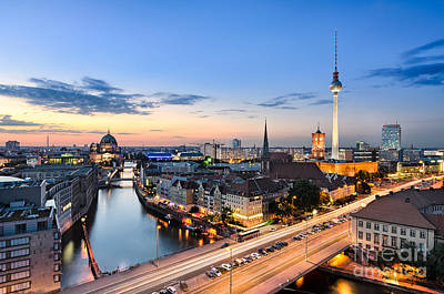 Berlin Skyline Art Print