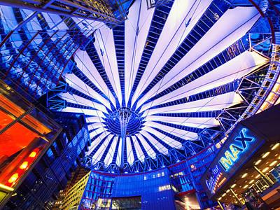 Night Photograph - Berlin Sony Center by Alexander Voss