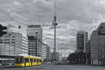 Berlin Streetview Art Print by Joachim G Pinkawa