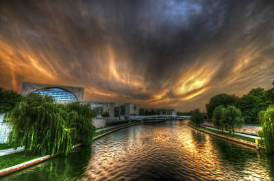 Tourist Attraction Digital Art - Berlin Sunset by Nathan Wright
