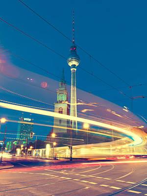 Street Photograph - Berlin Tv Tower by Alexander Voss