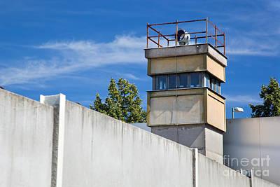 Steel Photograph - Berlin Wall Memorial A Watchtower In The Inner Area by Michal Bednarek