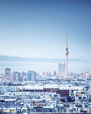 Berlin Winter Cityscape Art Print by Spreephoto.de