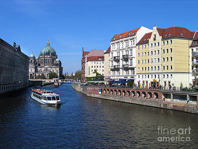 Berliner Dom And Nikolaiviertel Art Print by Art Photography
