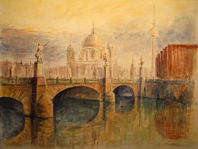Cathedral Painting - Berliner Dom by Juan  Bosco