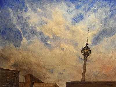 Berliner Sky Art Print by Juan  Bosco