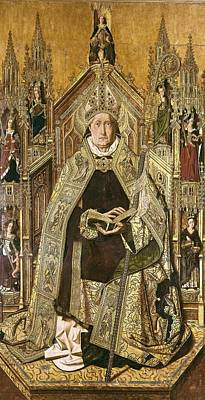 Bermejo, Bartolom� 1420-1498. Saint Art Print by Everett