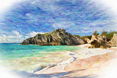 Bermuda Beach Art Print by Verena Matthew