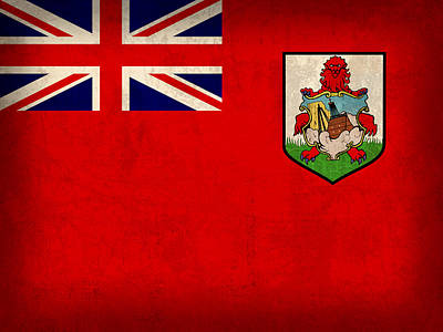 Bermuda Flag Vintage Distressed Finish Art Print by Design Turnpike