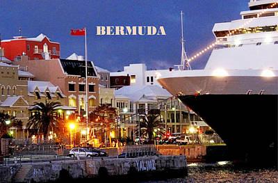 Photograph - Bermuda Front Street Poster by Ian  MacDonald