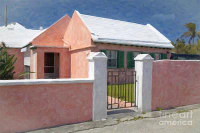 Art Print featuring the photograph Bermuda Garden Gate by Verena Matthew