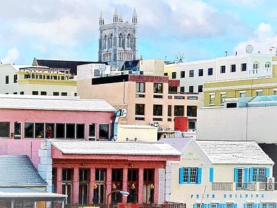 Photograph - Bermuda - Hamilton Skyline by Susan Savad
