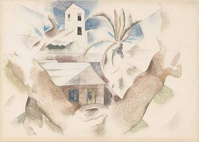 Bermuda No. 1, Tree And House Art Print by Charles Demuth