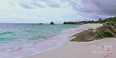 Painting - Bermuda Pink Prints In The Sand by Shelia Kempf