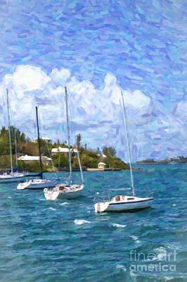 Art Print featuring the photograph Bermuda Sailboats by Verena Matthew