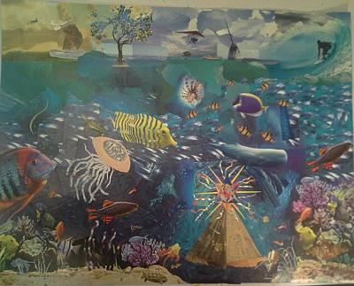 Hippopotamus Mixed Media - Bermuda by Samuel Terrence Eversole