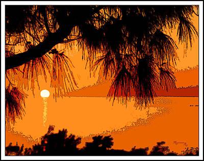 Bermuda Sunset Art Print by Mariarosa Rockefeller