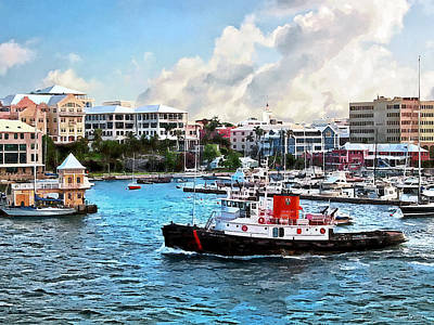 Photograph - Bermuda - Tugboat Going Into Hamilton Harbour by Susan Savad