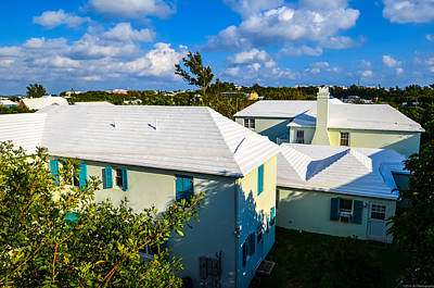 Photograph - Bermuda Zig-zag Rooftops by Jeff at JSJ Photography