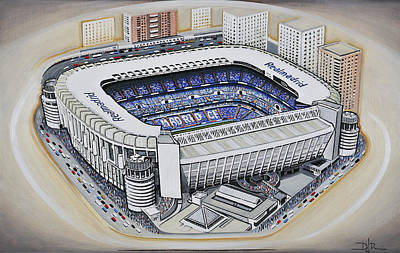 Football Paintings - Bernabeu - Real Madrid by D J Rogers