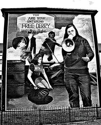 Photograph - Bernadette Devlin Mural 2 by Nina Ficur Feenan