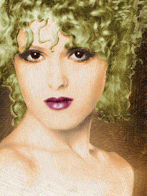 Bernadette Peters Gold Art Print by Tony Rubino