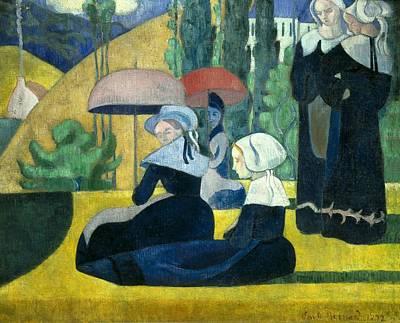 Bernard, Emile 1866-1941. Breton Women Art Print by Everett