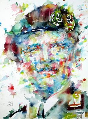 Bernard Montgomery - Watercolor Portrait Art Print