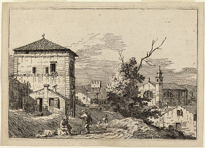 Dead Tree Drawing - Bernardo Bellotto Italian, 1722 - 1780 by Quint Lox