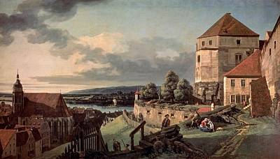 Bernardo Bellotto Painting - Bernardo Bellotto  The Pushkin State Museum Of Fine Arts 2683 View Of Pirna From The Fortress Of So by MotionAge Designs