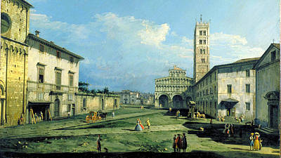 Bernardo Bellotto Painting - The Piazza San Martino Lucca by MotionAge Designs