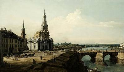 1780 Painting - View Of Dresden From The Left Shore Of The Elbe River by MotionAge Designs
