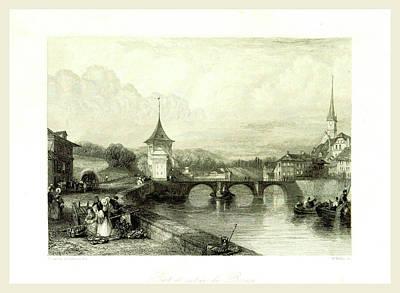 Switzerland Drawing - Berne, Bern, Switzerland 19th Century by Litz Collection