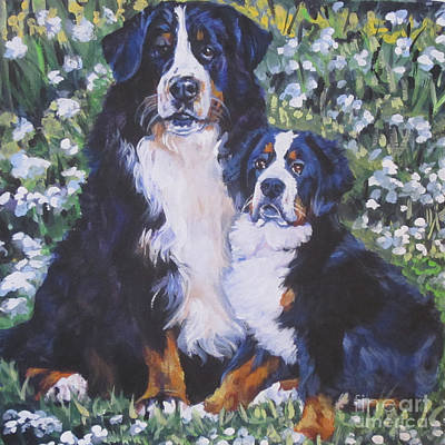 Painting - Bernese Mountain Dog by Lee Ann Shepard