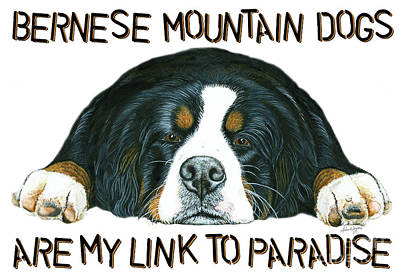 One Of A Kind Painting - Bernese Mountain Dog Paradise by Liane Weyers