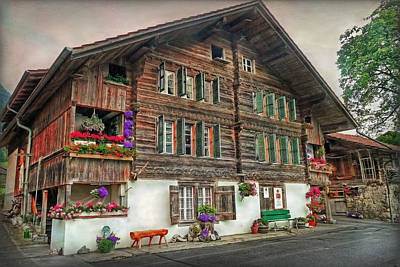 Photograph - Bernese Wooden House by Hanny Heim