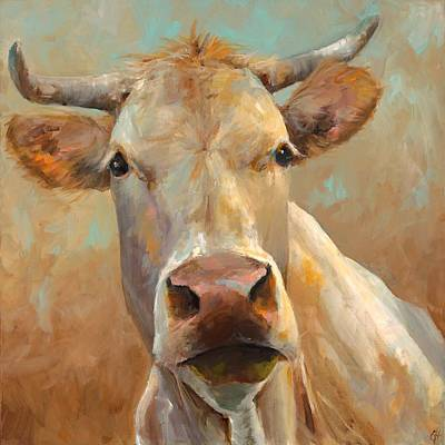 Dairy Cows Painting - Bernice by Cari Humphry
