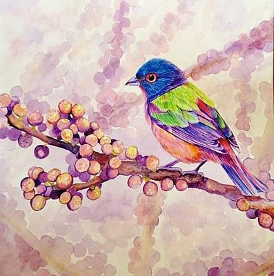 Painting - Berries And Bird by Sonali Sengupta