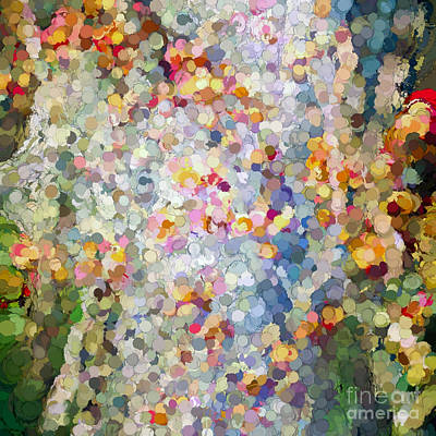 Berries Around The Tree - Abstract Art Art Print