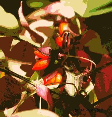 Burning Bush Digital Art - Berry Abstract by Tg Devore