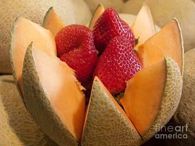 Cantaloupe Photograph - Berry Bowl by Ann Horn