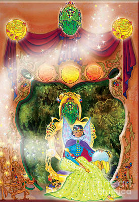 Matanuska Painting - Berry Fairy Queen Prasidea by Teresa Ascone