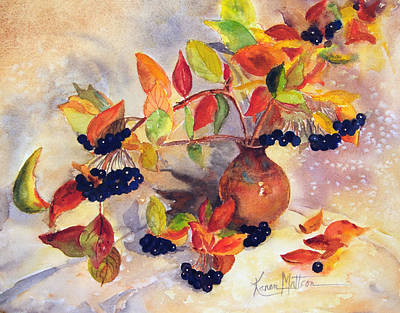 Painting - Berry Harvest Still Life by Karen Mattson