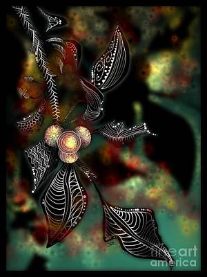 Digital Art - Berry Tangled by J Kinion