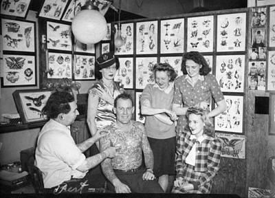 Tattoo Artist Bert Grimm And Friends Flash Art Studio Original