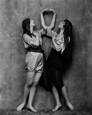 Berthe Photograph - Berthe And Francesca Braggiotii Posing by Nickolas Muray